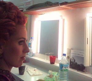 Barbara Kozelj mezzo-soprano backstage